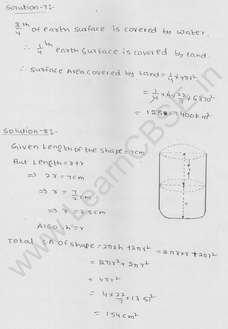 RD Sharma Class 9 solutions Chapter 21 Surface Area and volume of A Sphere Ex 21.1 4