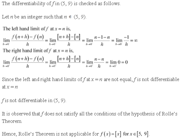 Free Online RD Sharma Class 12 Solutions Chapter 15 Mean Value Theorems Ex 15.1 Q10-ii
