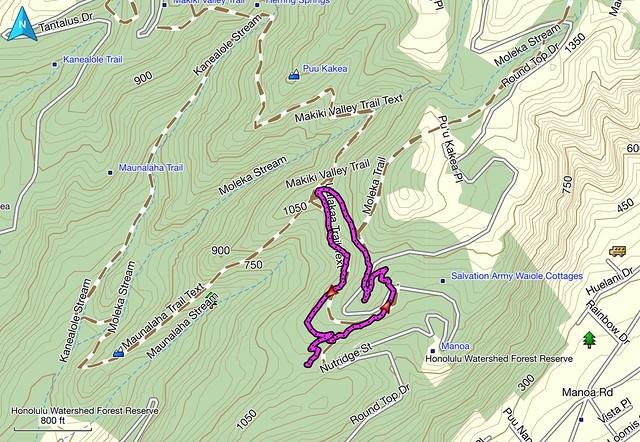 Ualakaa Trail Map