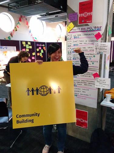 LET'S BUILD COMMUNITIES! YEEEEEAAAAAH. Pic by Rara.