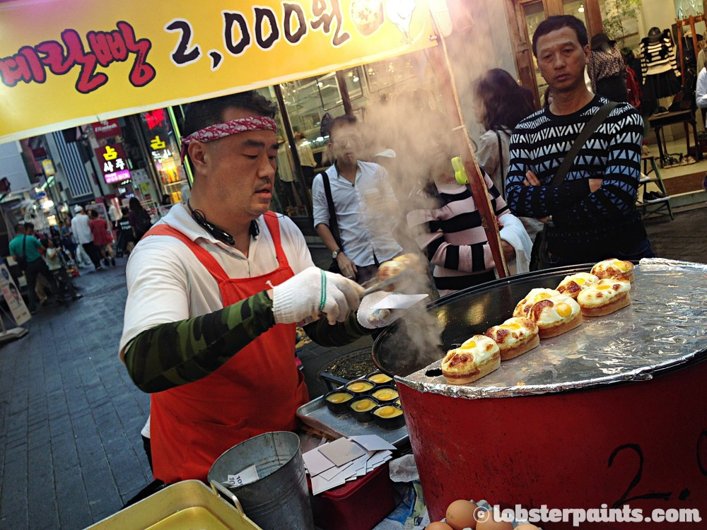 29 Sep 2014: Egg muffins 계란빵@ Myeongdong   Seoul, South Korea
