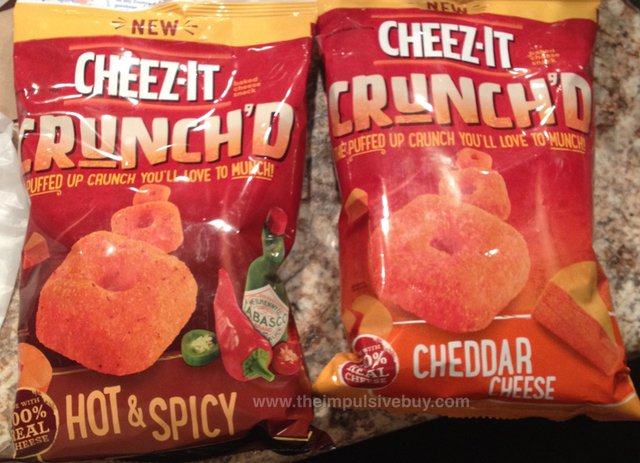 Cheez-It Crunch'd (Cheddar Cheese and Hot & Spicy)