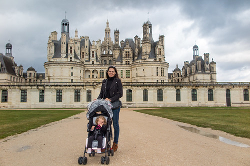 Adriana and Bella at Chateau de Chambord