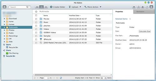 File Station ของ QNAP TS-251 ใช้บริหารจัดการไฟล์ได้ไม่ต่างจาก Windows Explorer