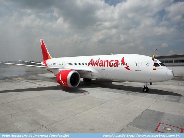 , Avianca comemora a chegada do primeiro Boeing 787 Dreamliner, Portal Aviação Brasil