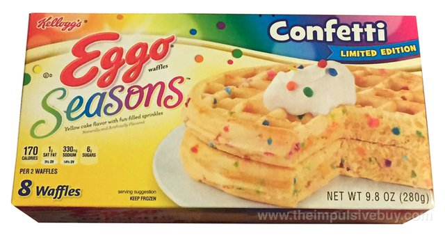 Kellogg's Limited Edition Eggo Seasons Confetti Waffles