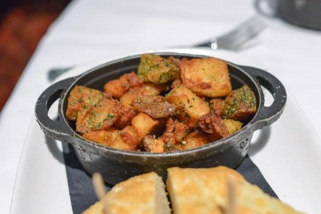 crispy roast potatoes with seasoned sea salt