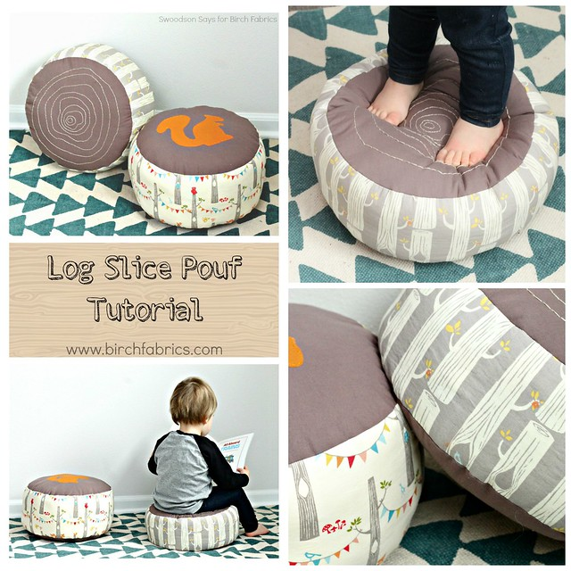log slice pillow diy