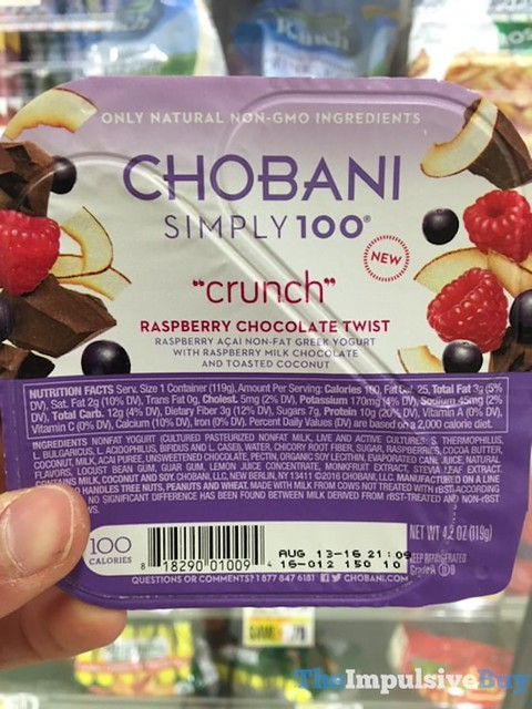 Chobani Simply 100 Crunch Raspberry Chocolate Twist