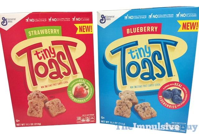 General Mills Strawberry and Blueberry Tiny Toast Cereals