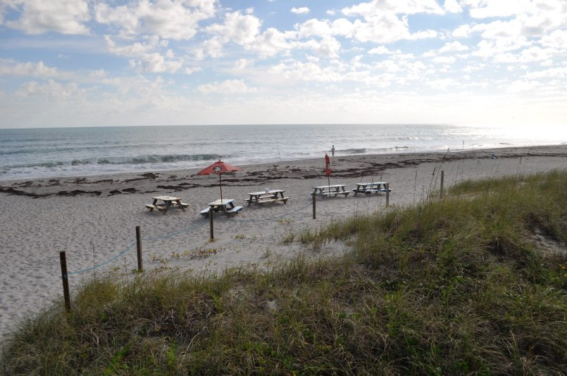 View of the Beach from Sand on the Beach - Melbourne Beach, Fla., Nov. 8, 2014