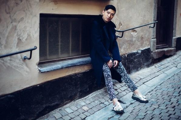 Fashion blogger Bryanboy at Gamla Stan, Stockholm
