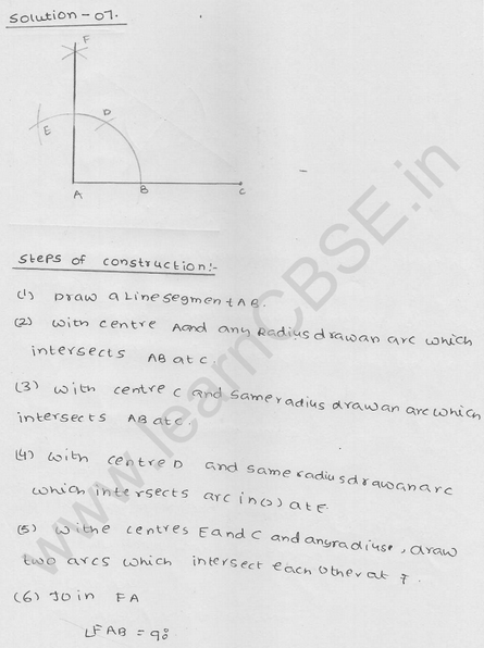 RD Sharma Class 9 solutions Chapter 17 Constructions Ex 17.2 Q 7