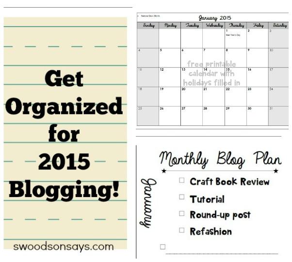 Free 2015 Blog Calendar and Organization Printables