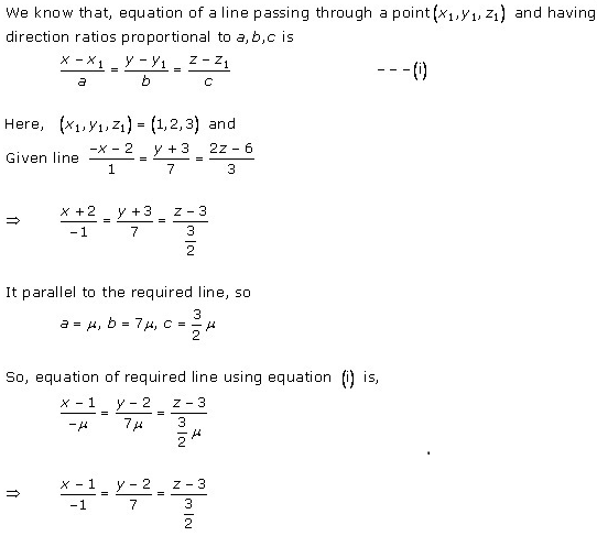 RD Sharma Class 12 Solutions Chapter 28 Straight Line in Space Ex 28.1 Q14