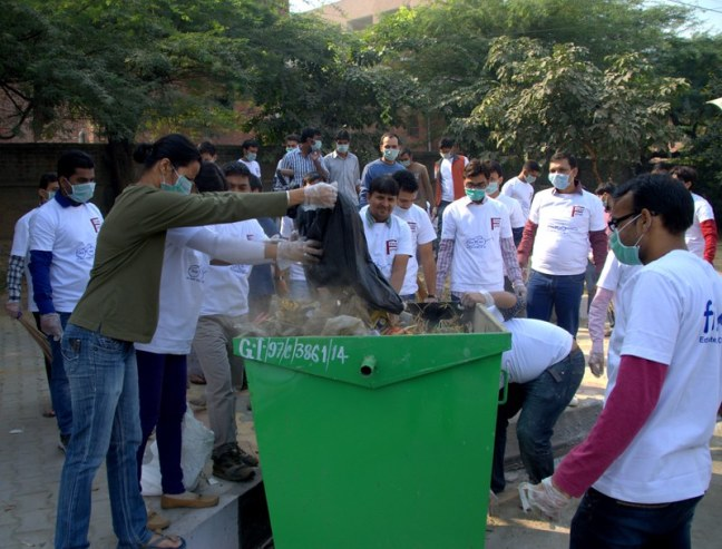Take a leap of Faith, be united and taste the success.... Girls and boys came together for Swach Bharat Abhiyaan