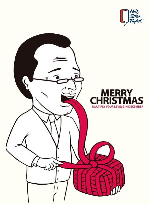 Wall Street English - Merry Christmas Man