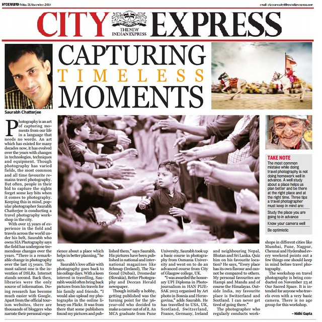 21st November 2014 New Indian Express