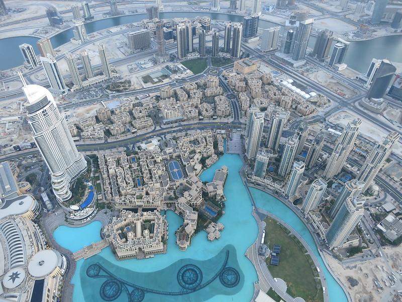Dubai Fountain from Burj Khalifa