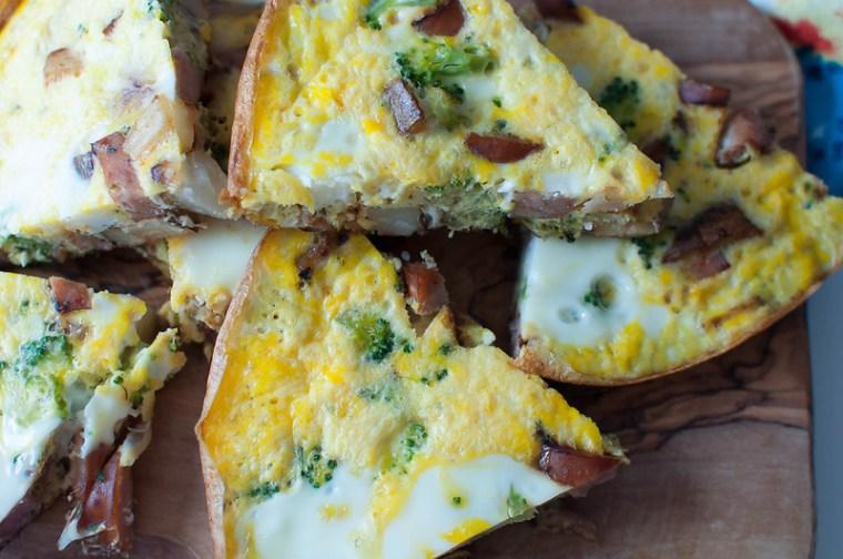 Chicken Sausage, Broccoli and Potato Frittata 3