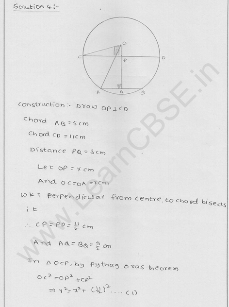 RD Sharma Class 9 solutions Chapter 16 Circles Ex 16.2 4