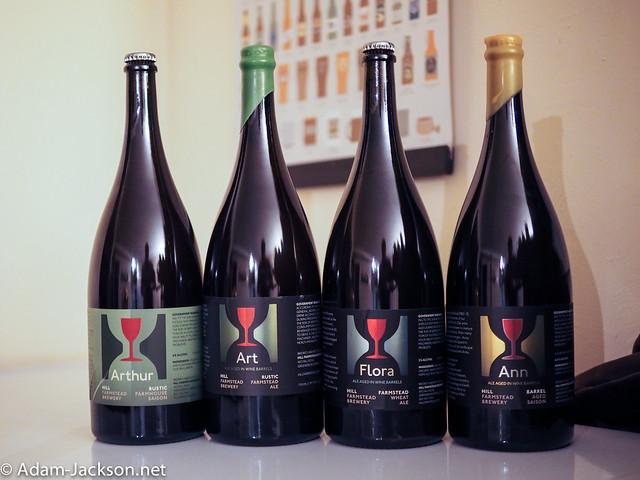 February Beer haul - 2015, Hill Farmstead Magnums (Ann, Flora, Art, Arthur)