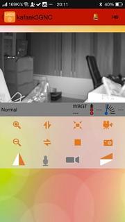 ภาพจากกล้อง 3GNC 5881W ดูผ่าน Android smartphone