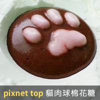 pixnet top 貓肉球棉花糖