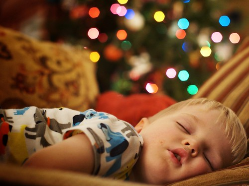 My Son napping by the tree