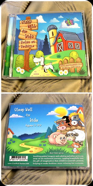 sleep well for kids front and back cd case