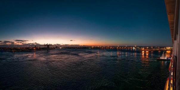 Pre-dawn arrival in Port Canaveral
