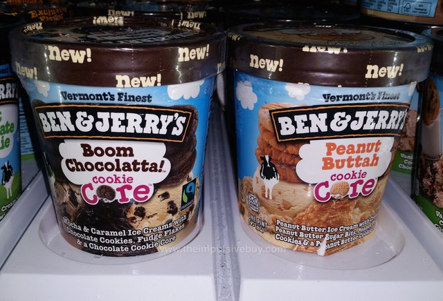 Ben & Jerry's Cookie Core Ice Cream (Boom Chocolatta! and Peanut Buttah)
