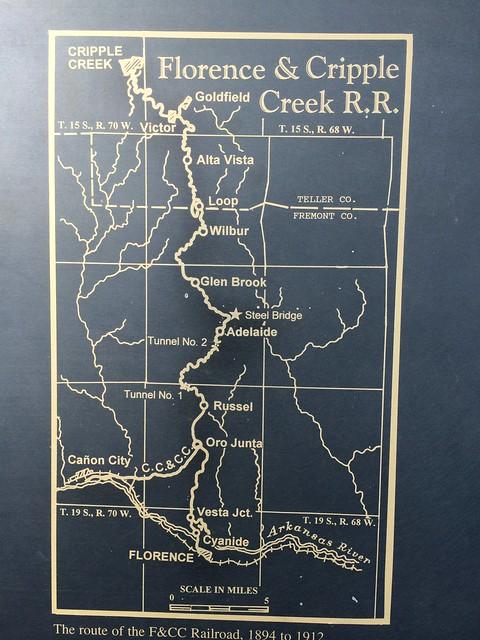 Florence & Cripple Creek Railway Map