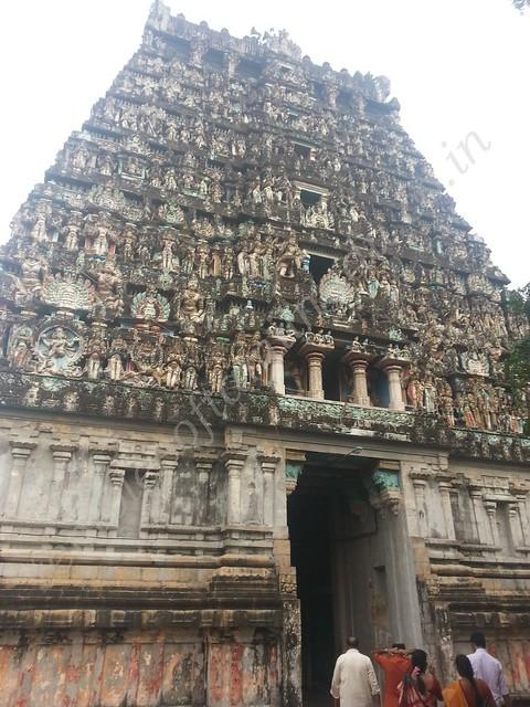 Gopuram near the Adhi Vaidhyanathar shrine, Vaitheeswaran Kovil
