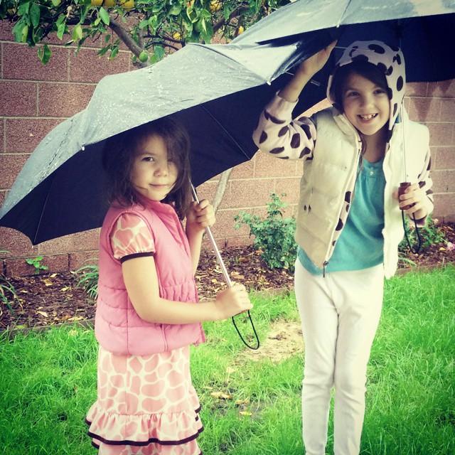 It's a rain party!