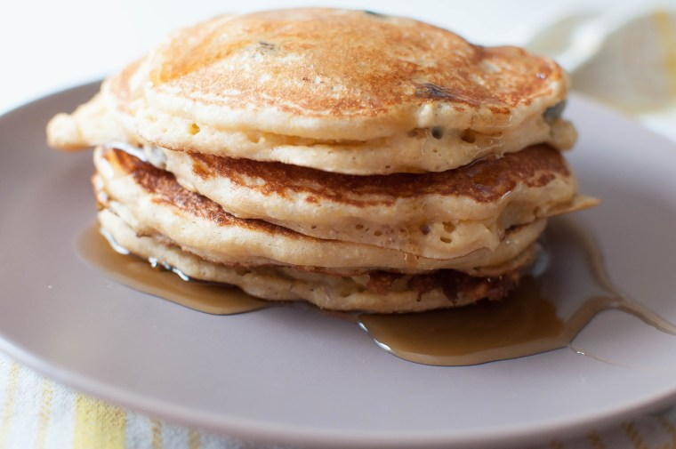 Corny Banana Blueberry Pancakes 4
