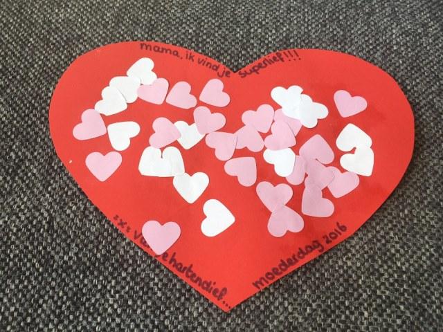 Moederdag cadeautje hart
