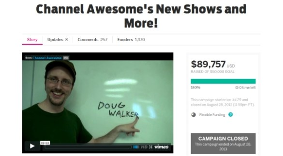 Image result for channel awesome indiegogo