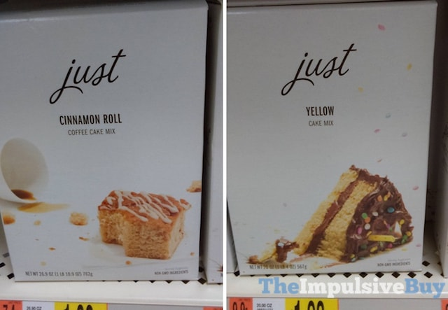Just Cinnamon Roll Coffee Cake Mix and Yellow Cake Mix