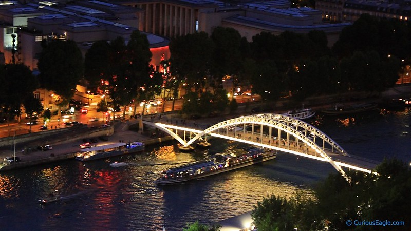 Beautifully lit bridge over Seine