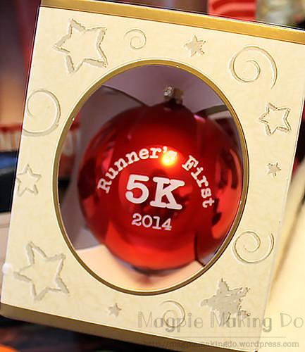 Runners first 5k ornament