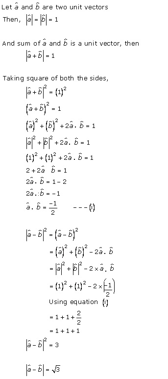 RD Sharma Class 12 Solutions Chapter 24 Scalar or Dot Product Ex 24.1 Q9