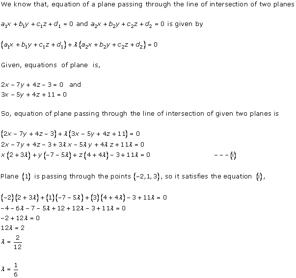 RD Sharma Class 12 Solutions Chapter 29 The Plane 29.7 Q3