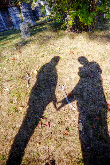 """Love Shadow"" Sleepy Hollow Cemetery."