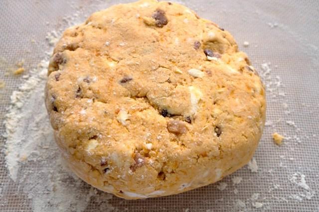 sweet potato biscuit dough round