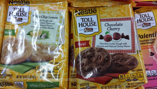 Nestle Toll House White Chip Lemon and Chocolate Cherry Cookies
