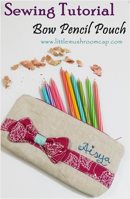 Sewing Tutorial - Bow pencil Pouch