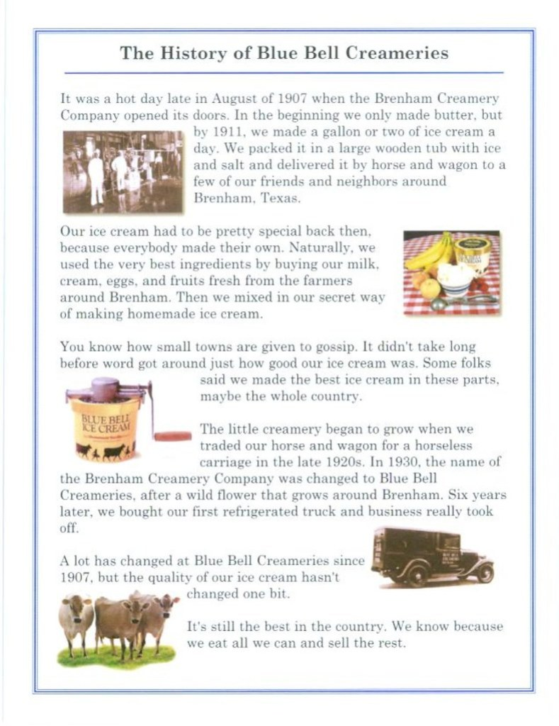 The History of Blue Bell