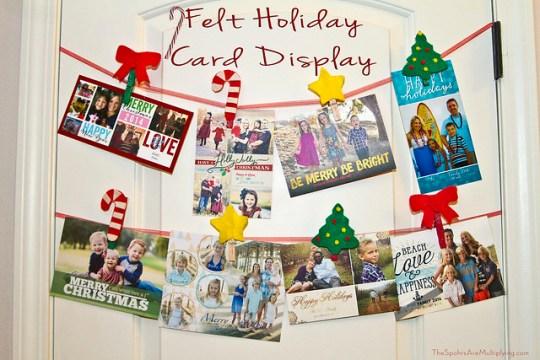 Felt holiday Card Display Clips