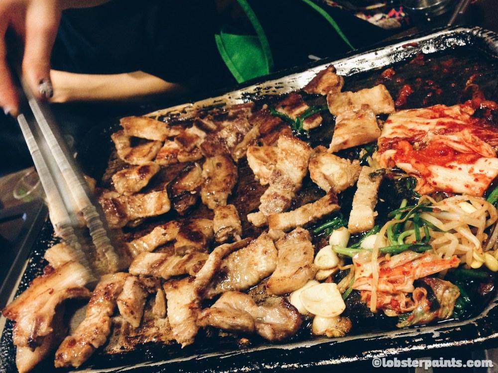2 Oct 2014: Korean BBQ @ Sinsa-dong Garosu-gil   Seoul, South Korea